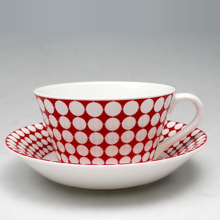 赤水玉カップソーサ