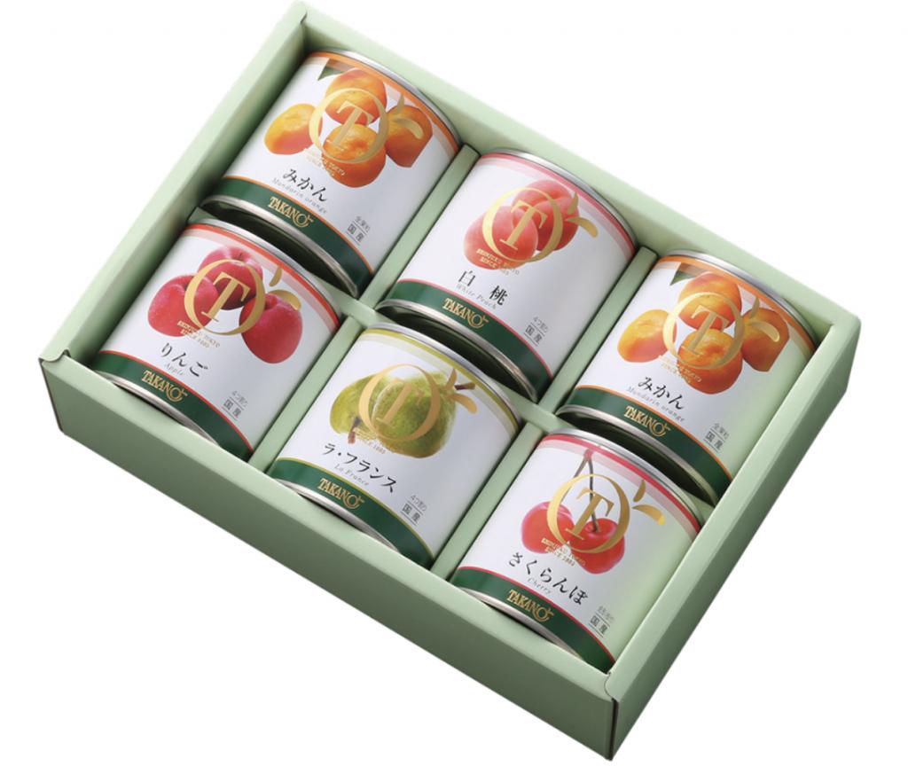 新宿高野「国産フルーツ缶詰セット6入」